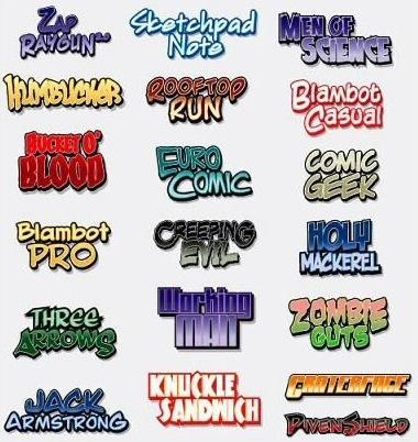 comicfonts