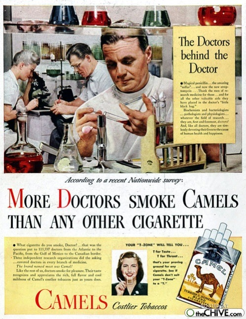 old smoking ads 3 Awesomely horrible old smoking ads Part II (35 Photos)