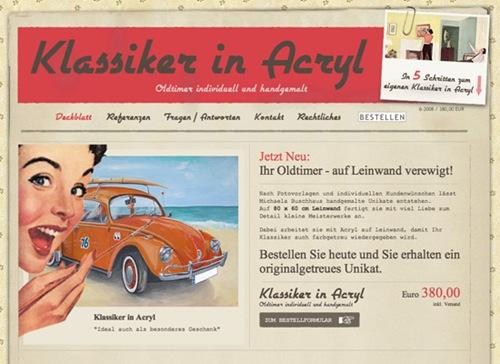 Klassiker in Acryl - screen shot.