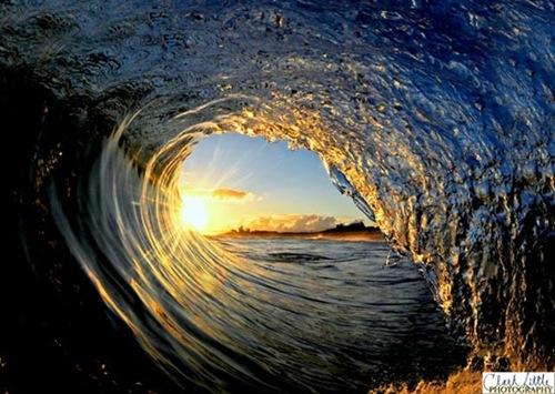 sunset wave clark little photo